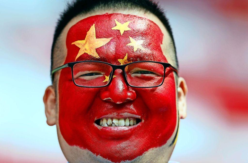 Ein chinesischer WM-Zuschauer: Immer mehr Gäste aus Fernost finden den Weg zur Fußball-WM. Foto: AP