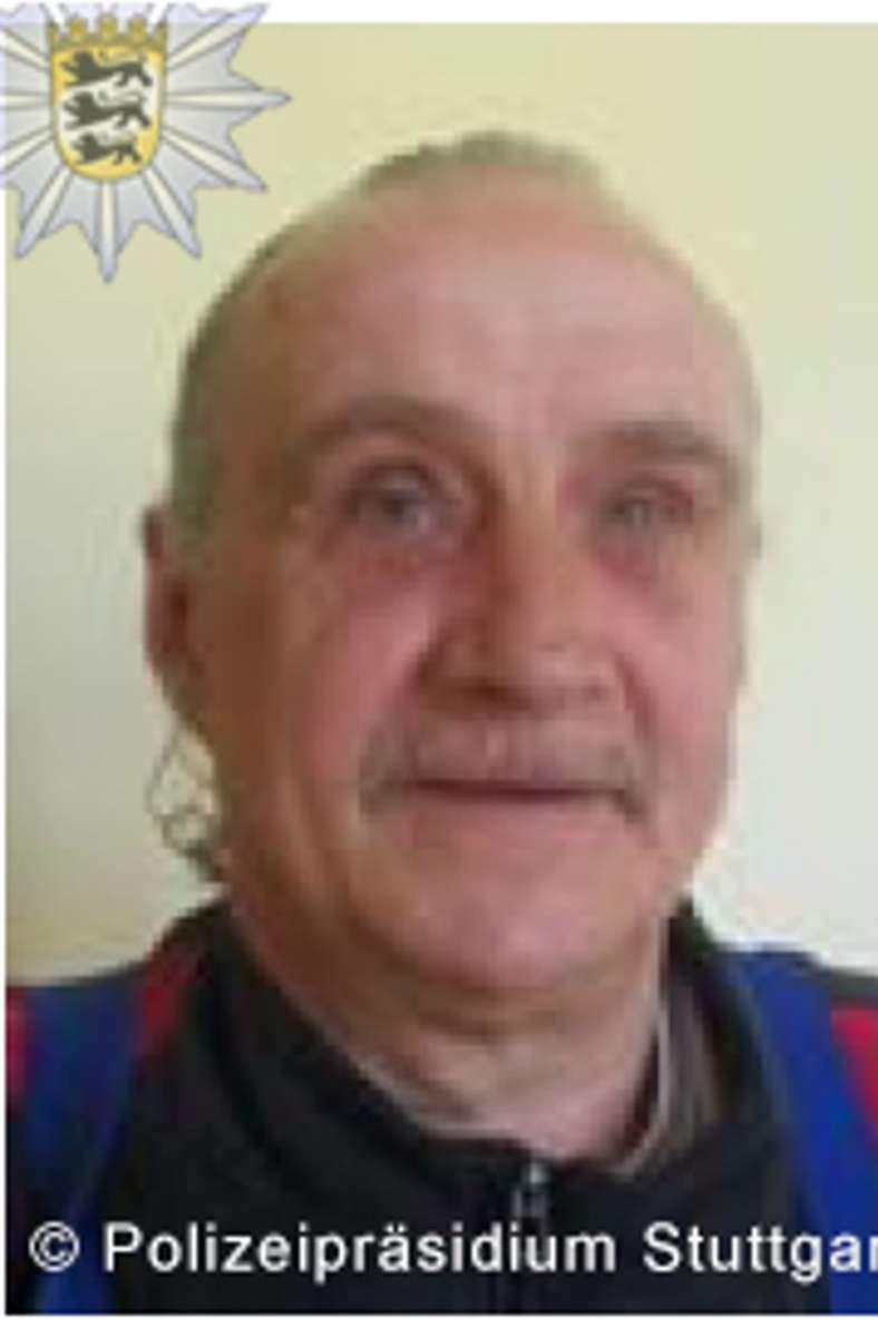 Der 63 Jahre alte Wolfgang Ulrich Mair ist aus einer psychiatrischen Einrichtung in Emmendingen geflüchtet. Foto: Polizei Stuttgart