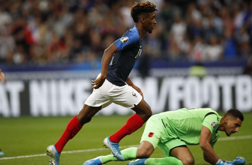 Am Samstag spielten Frankreich gegen Albanien in der EM-Qualifikation. Foto: dpa