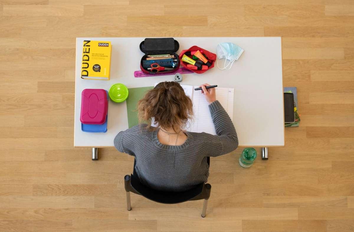 Wie geht es mit den Prüfungen in Baden-Württemberg weiter? Foto: dpa/Sebastian Kahnert