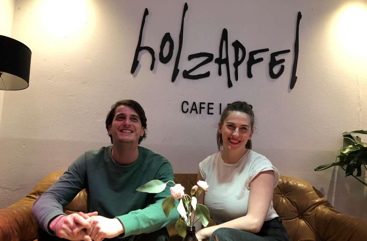Moritz und Nina Holzapfel schließen ihr beliebtes Café Ende Oktober. Foto: StZN/Tanja Simoncev