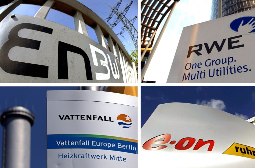 Die vier Energiekonzerne E.ON, RWE, Vattenfall und EnBW sollen 23,3 Milliarden Euro in einen Fond einzahlen. Foto: dpa