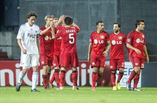 Leverkusen gewinnt Hinspiel in Kopenhagen 3:2
