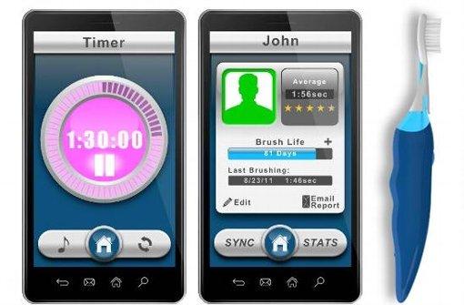 Mit einer Smartphone-App wird Zähneputzen zum Erlebnis! Foto: Beam Brush