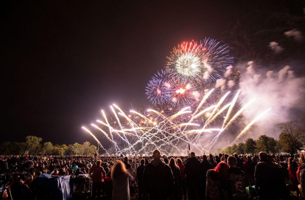 11000 Besucher sind der Faszination des Feuerwerks erlegen. Foto: