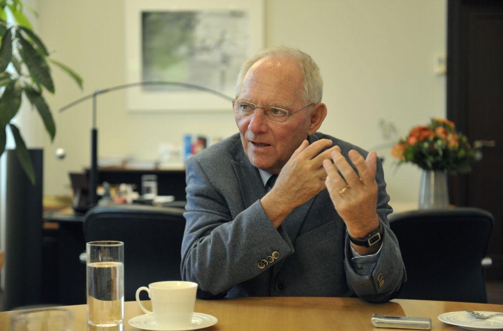 Wolfgang Schäuble fordert eine schärfere Haushaltsüberwachung in Europa. Foto: Lipicom/Michael H. Ebner
