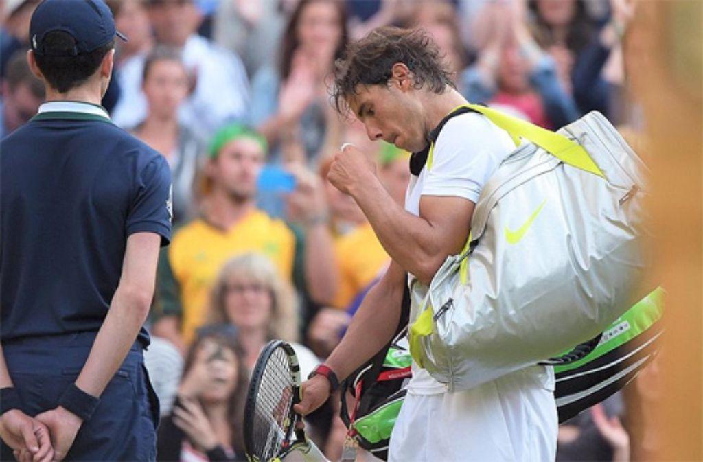 Rafael Nadal scheitert überraschend in Wimbledon.  Foto: Markus Merz