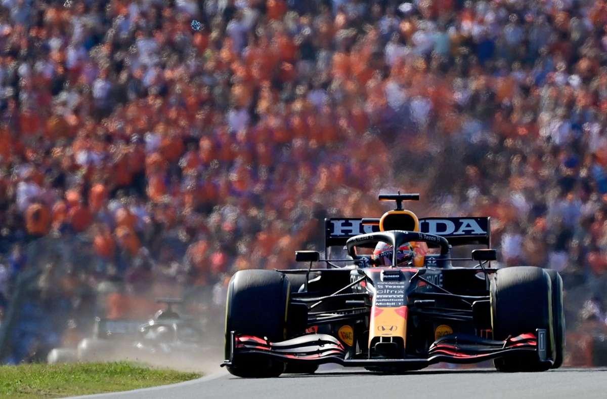 Max Verstappen verwies Lewis Hamilton auf den Platz zwei. Foto: AFP/ANDREJ ISAKOVIC