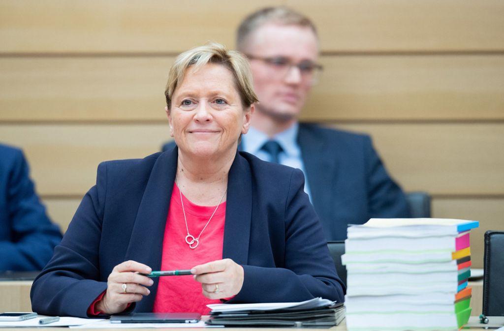 Susanne Eisenmann (CDU) will ein neues Konzept für die Grundschulempfehlung ausarbeiten. Foto: dpa/Tom Weller