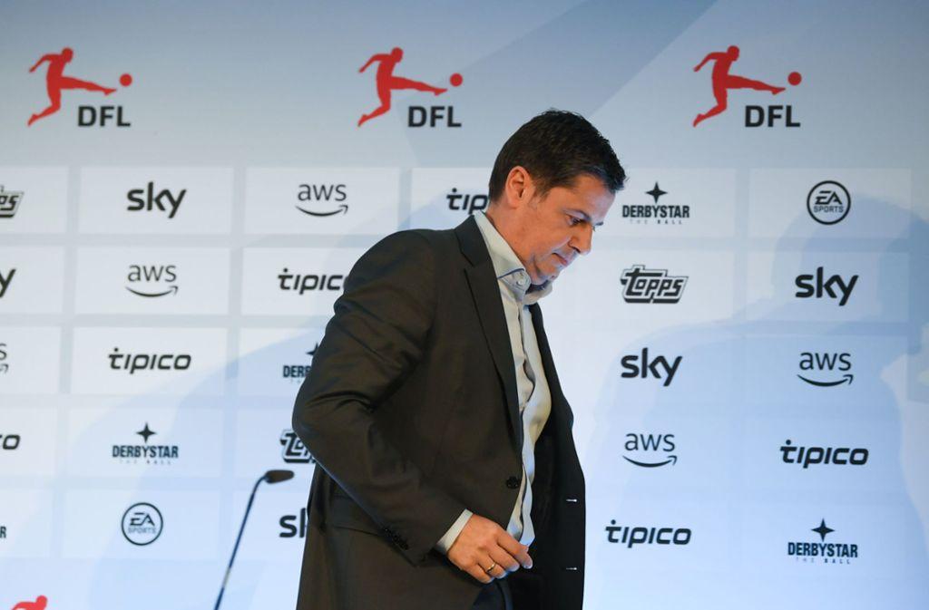 Die Zeiten sind schwierig – auch für DFL-Chef Christian Seifert. Foto: AFP/Arne Dedert