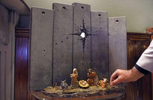 Neues Kunstwerk zeigt Heilige Familie im Nahost-Konflikt