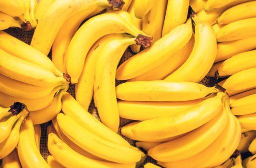 Koks versteckt unter Bananen