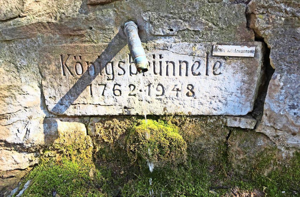 Plätschert munter vor sich hin: das Königsbrünnele am Westrand des Schönbuchs. Foto: Decksmann