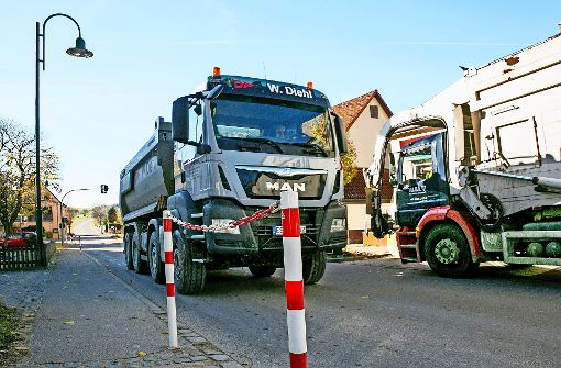 Erkenbrechtsweiler stöhnt unter Lastwagenverkehr