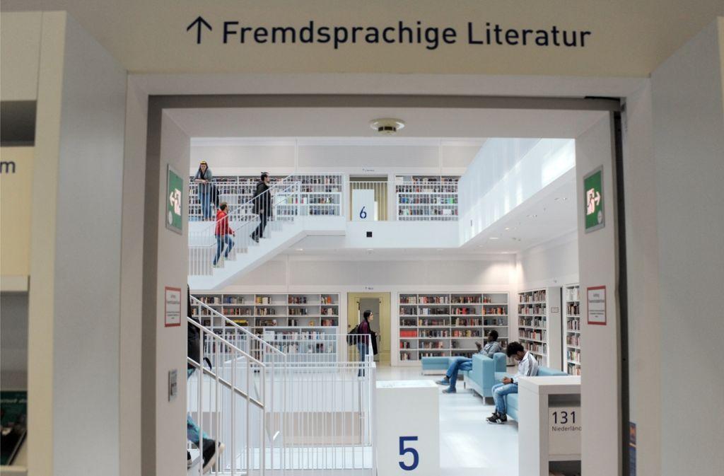 Ein Anziehungspunkt: Die Stadtbibliothek Stuttgart Foto: dpa