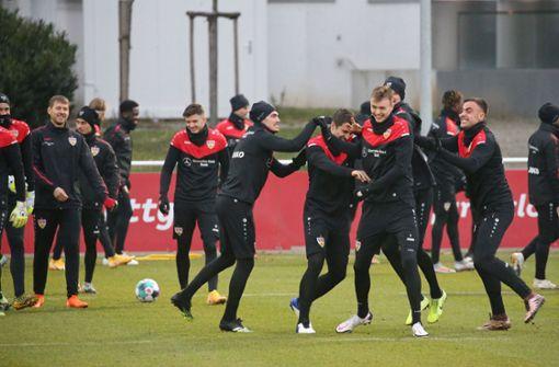 Viele lachende Gesichter beim Start in die Trainingswoche