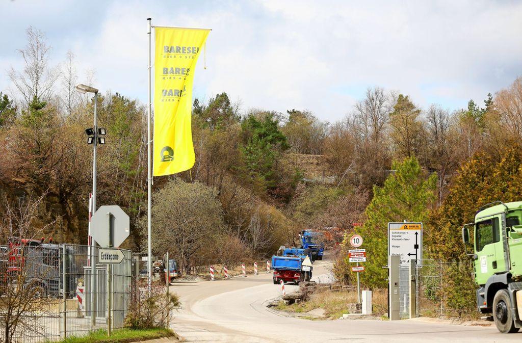In Ehningen gäbe es den Steinbruch der Firma Baresel. Foto: