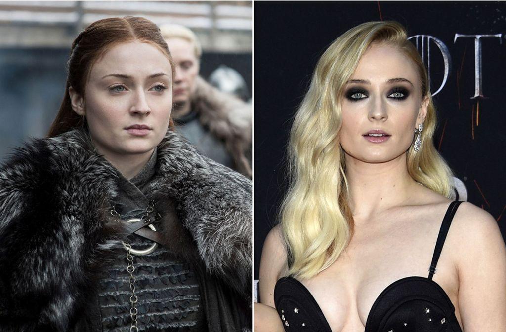 """Sophie Turner, britische Schauspielerin, als Sansa Stark in der Fantasy-Saga """"Game of Thrones"""" und bei der letzten Premiere zur Serie am 3. April 2019 in New York. Foto: Evan Agostini/HBO/Invision/AP/dpa"""