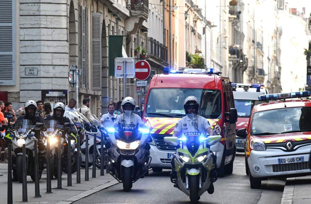 In Lyon ist es zu einer Explosion gekommen. Foto: AFP