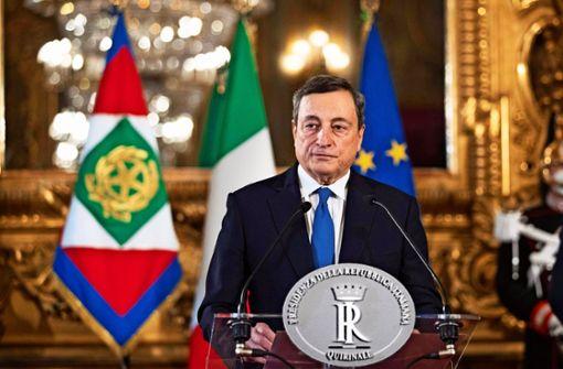 Mario Draghis Team sprengt die Parteigrenzen
