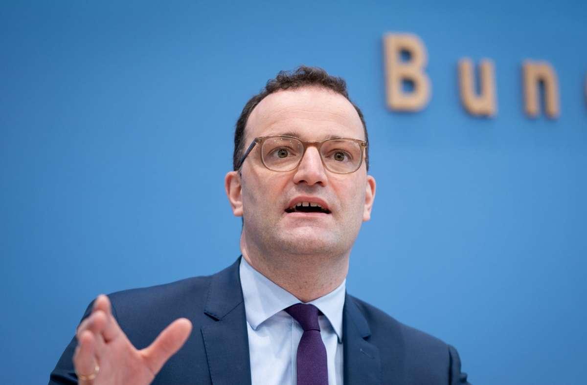 Bundesgesundheitsminister Jens Spahn (CDU). (Archivbild) Foto: dpa/Kay Nietfeld