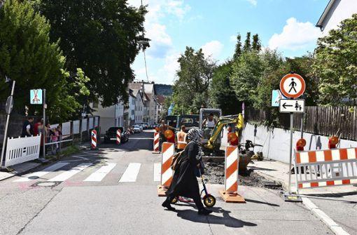 Gehwegnasen in der Uhlbacher Straße