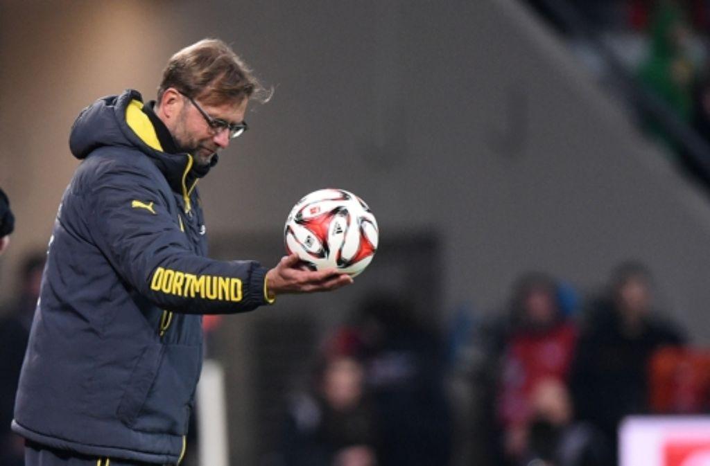 Jürgen Klopp hat mit seinem BVB ein 0:0 bei Bayer Leverkusen erreicht. Foto: dpa
