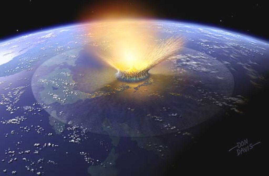 Brände, Tsunamis und monatelange Dunkelheit: die kosmische Kollision hat die Lebensgrundlagen vieler Arten vernichtet. Foto: dpa