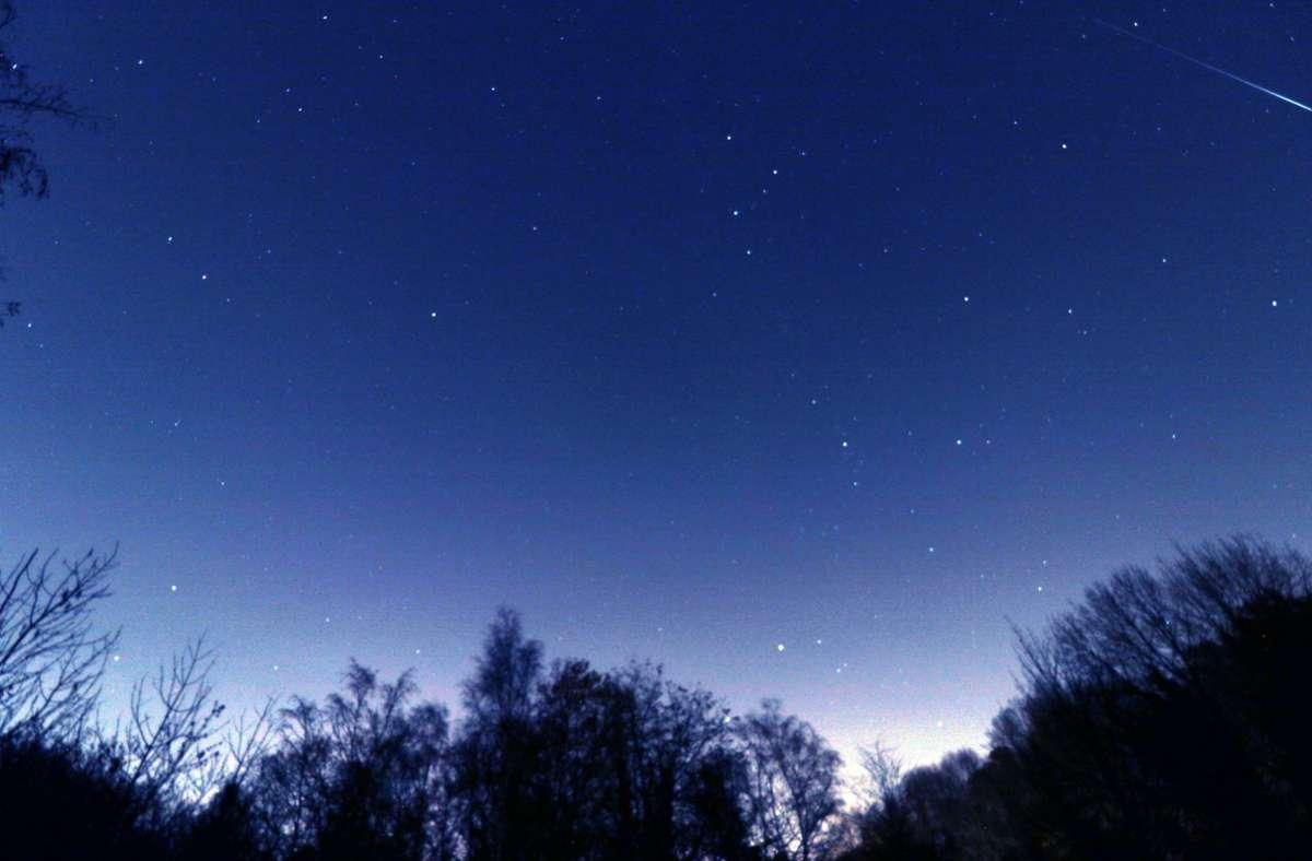 Der Himmel bei Nacht (Symbolbild). Foto: imago images/Gottfried Czepluch