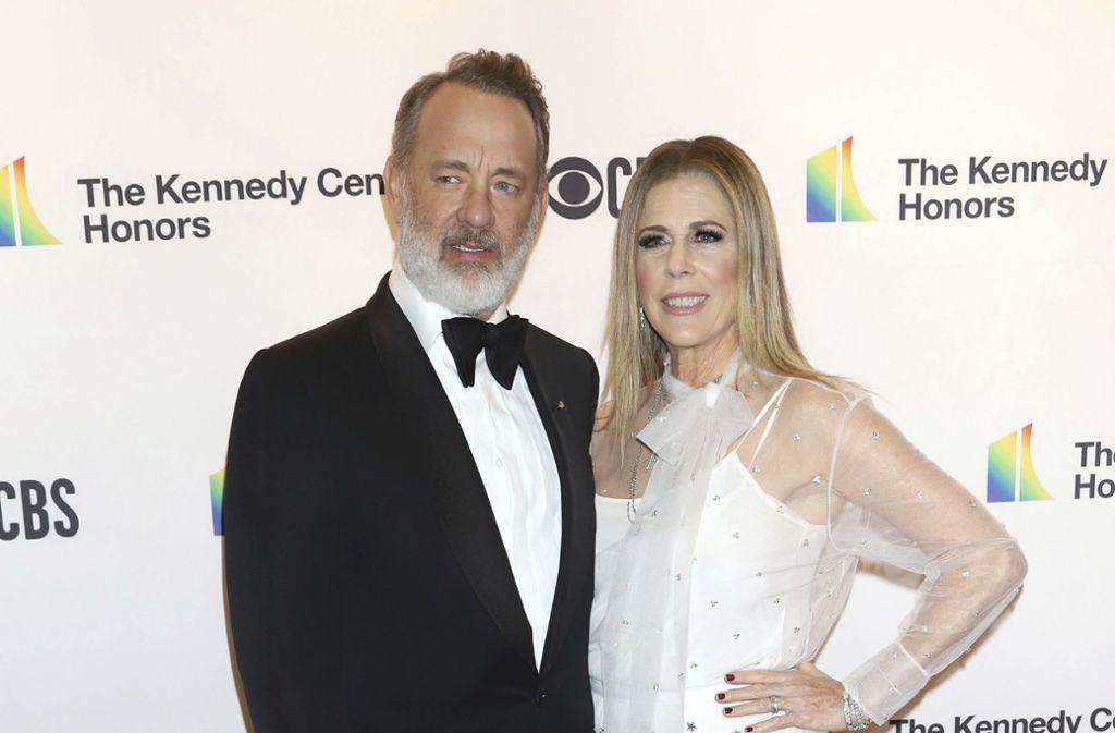 Tom Hanks kam in Begleitung  seiner Frau  Rita Wilson zu den Kennedy Center Honors. Foto: AP/Greg Allen