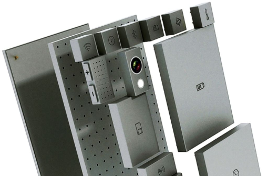 Die Vision: ein Handy nach Wunsch, aus Blöcken zusammengefügt. Foto: Phonebloks