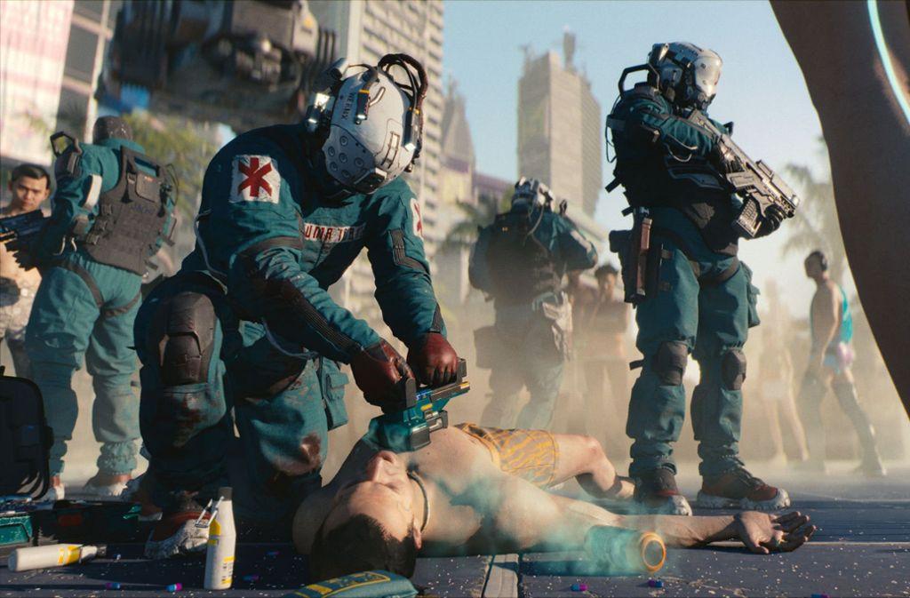 """Die Vorschau auf das Science-Fiction-Spiel """"Cyberpunk 2077"""" zählt zu den Höhepunkten auf der E3 in Los Angeles. Die Entwickler von CD Projekt Red hatten bereits mit """"The Witcher 3"""" einen Hit gelandet. Foto: CD Projekt Red"""
