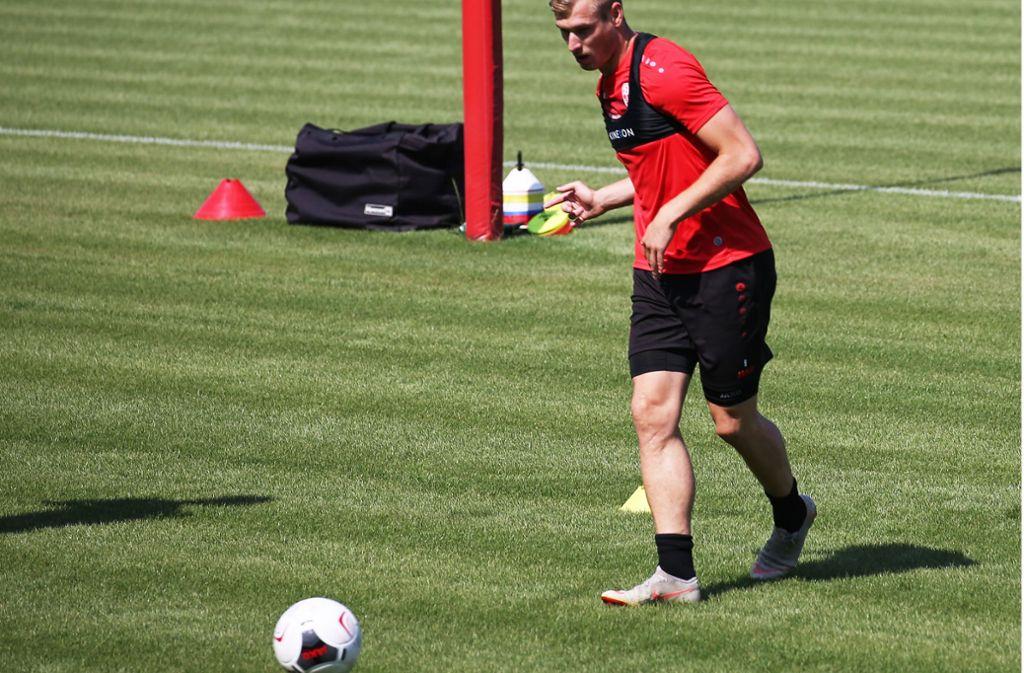 Verletzungsbedingt konnte Marcel Sökler zu Saisonbeginn nur trainieren – jetzt ist der Torjäger topfit und kann dem VfB Stuttgart II helfen. Foto: Baumann