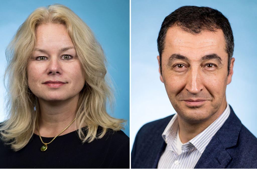 Die Grünen-Politiker Kirsten Kappert-Gonther und Cem Özdemir Foto: dpa