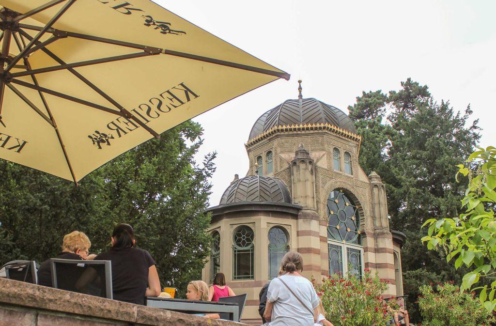 Das Café Belvedere ist für Fundel einer der schönsten Plätze in der Wilhelma. Foto: Wilhelma /Harald Knitter