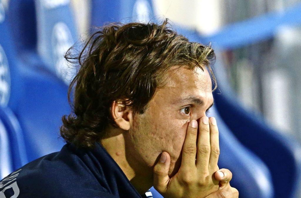 Sebastian Mannström trauert zwei verschenkten Punkten hinterher. Foto: Baumann