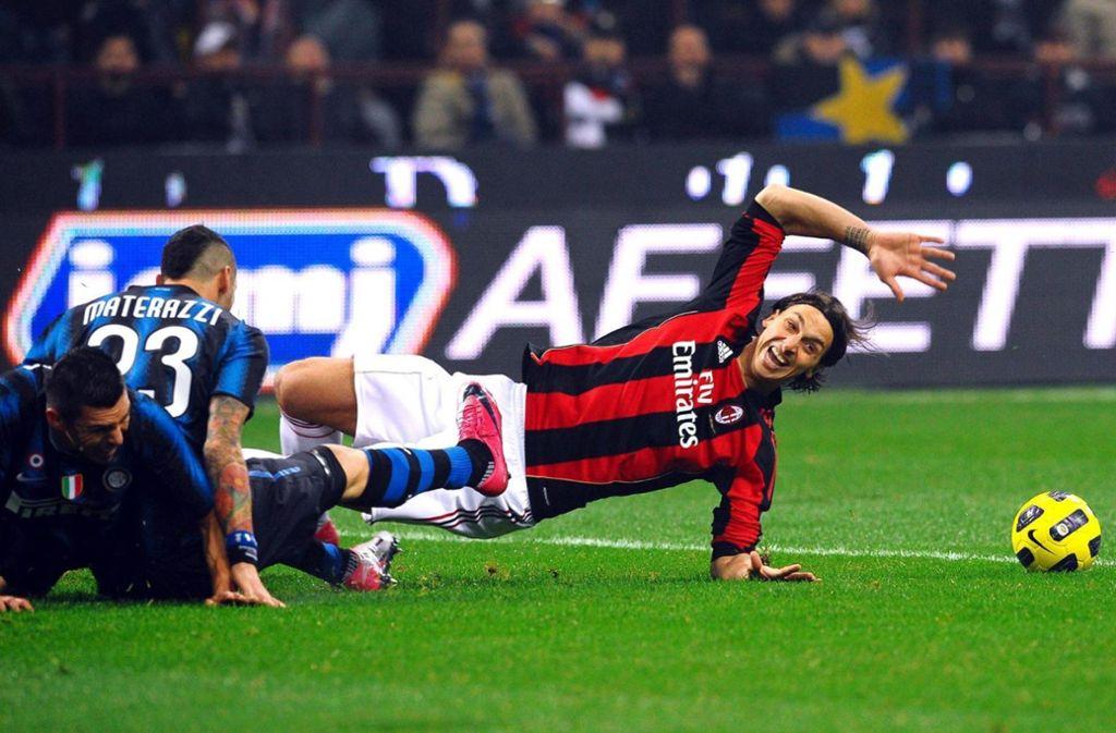 Zlatan Ibrahimovic und Marco Materazzi verbindet eine jahrelange und intensive Fehde. Foto: Imago