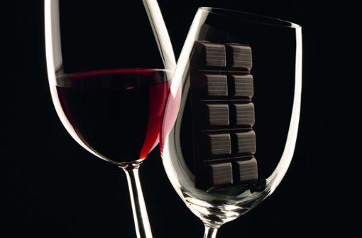 Schlank von Wein und Schokolade?