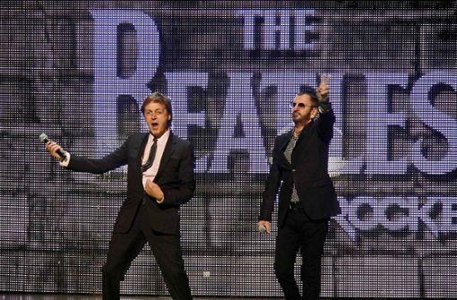 Paul McCartney und Ringo Starr für einen Abend wiedervereint