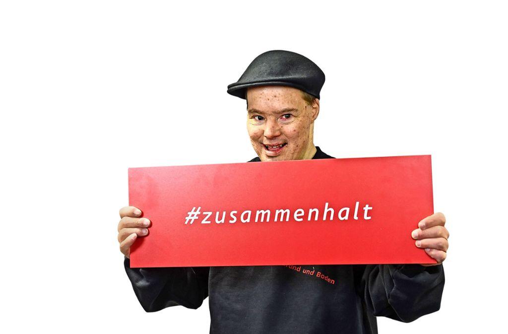 Ralf Dinter durfte mit der Brenz Band die Stadionhymne des VfB neu vertonen. Foto: Pfisterer