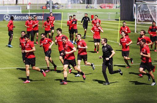 VfB Stuttgart ist zurück im Mannschaftstraining