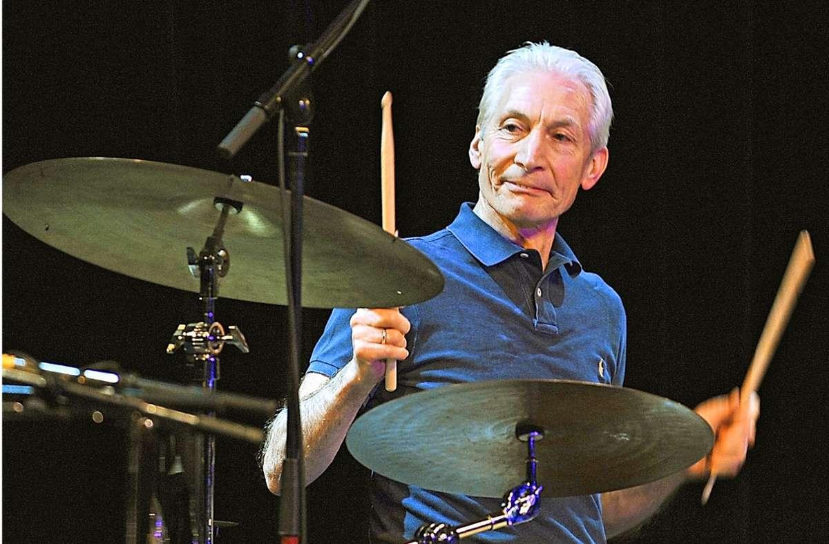 Stets die Ruhe selbst: Charlie Watts, der Schlagzeuger der Rolling Stones Foto: dpa/Ursula Düren