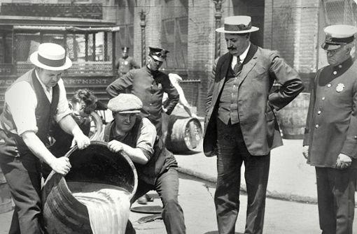 Warum die Prohibition in USA nicht funktionierte