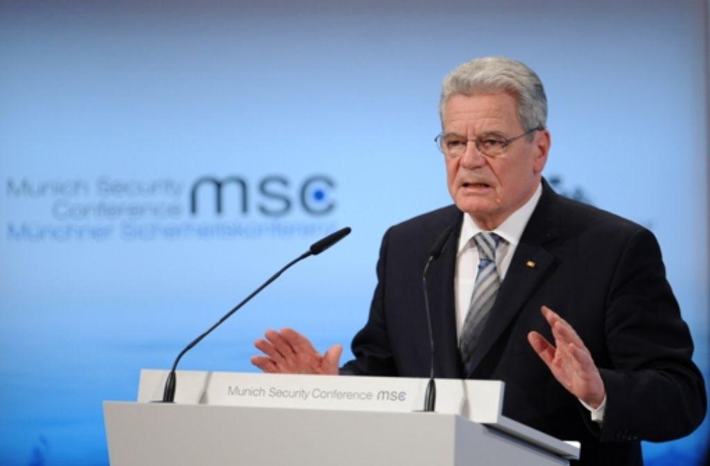Bundespräsident Gauck will, dass sich Deutschland in der Welt stärker engagiert Foto: dpa
