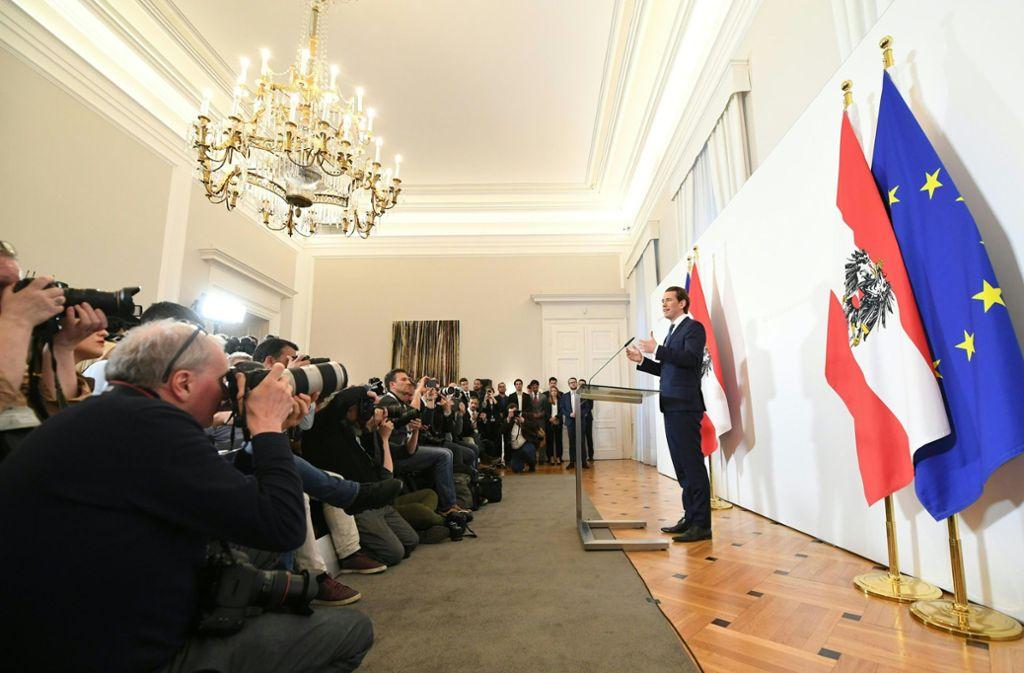Kanzler Sebastian Kurz kündigte am Samstagabend an, so schnell wie möglich eine Neuwahl in Österreich durchführen zu lassen. Foto: dpa