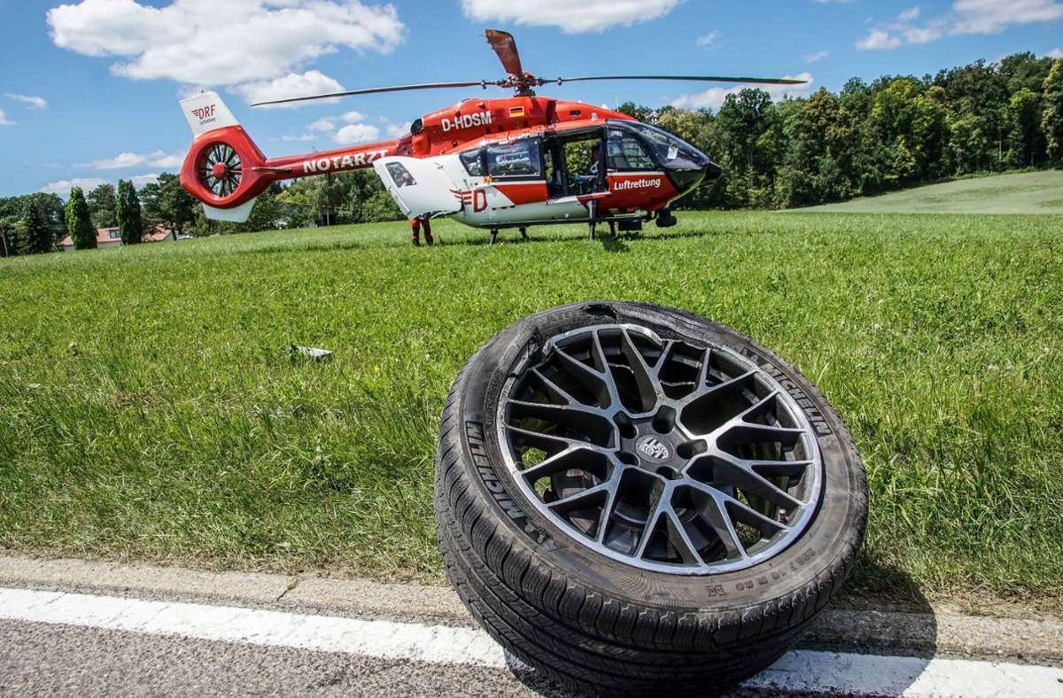... und musste mit einem Rettungshubschrauber in eine Klinik geflogen werden. Foto: SDMG