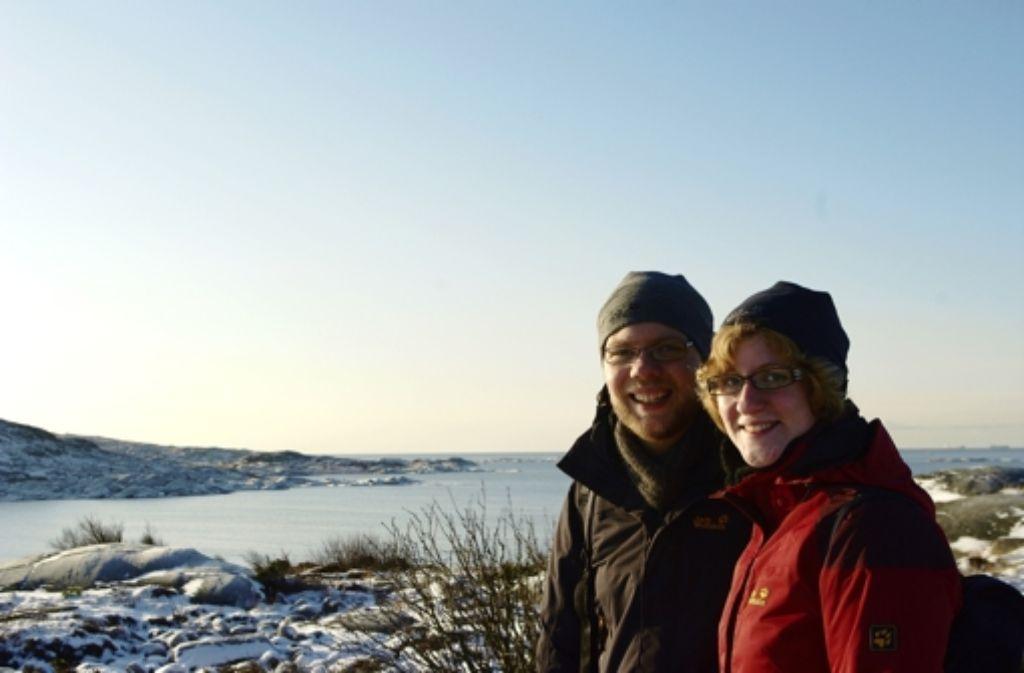 Julia Niedermaier und Lars Lischke auf der Insel Foto: z