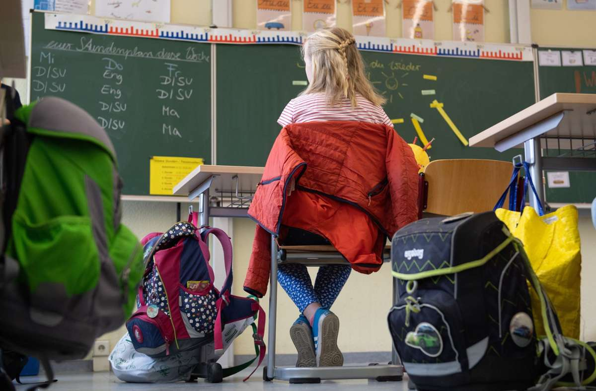Die Schule ist in Baden-Württemberg wieder losgegangen. Foto: picture alliance/dpa/Sebastian Kahnert
