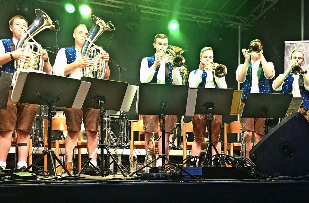 """Die Showband """"Baaremer Luusbuäbä"""" hat bei der Premiere des Kuckucksfestes für Stimmung gesorgt. Auch bei der zweiten Auflage ist die Gruppe dabei. Foto: privat (z)"""