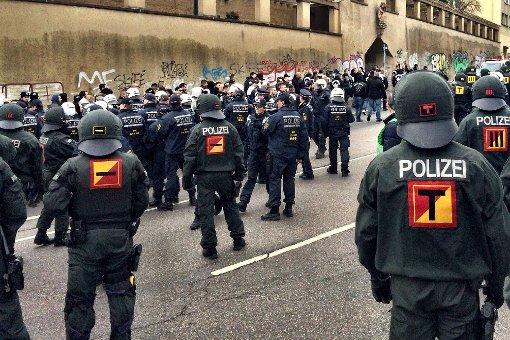 Polizei-Großeinsatz in Stuttgart